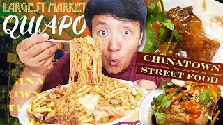 Binondo CHINATOWN Street Food & LARGEST Market (Quiapo) in Manila Philippines Local Food Tour