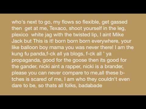 Sweet Dreams Remix - (Lil Wayne, Beyoncé, Nicki Minaj) - Lyrics On Screen