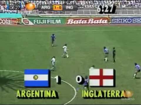 La Mano De Dios. Argentina vs England Mexico 86 Gol de Maradona