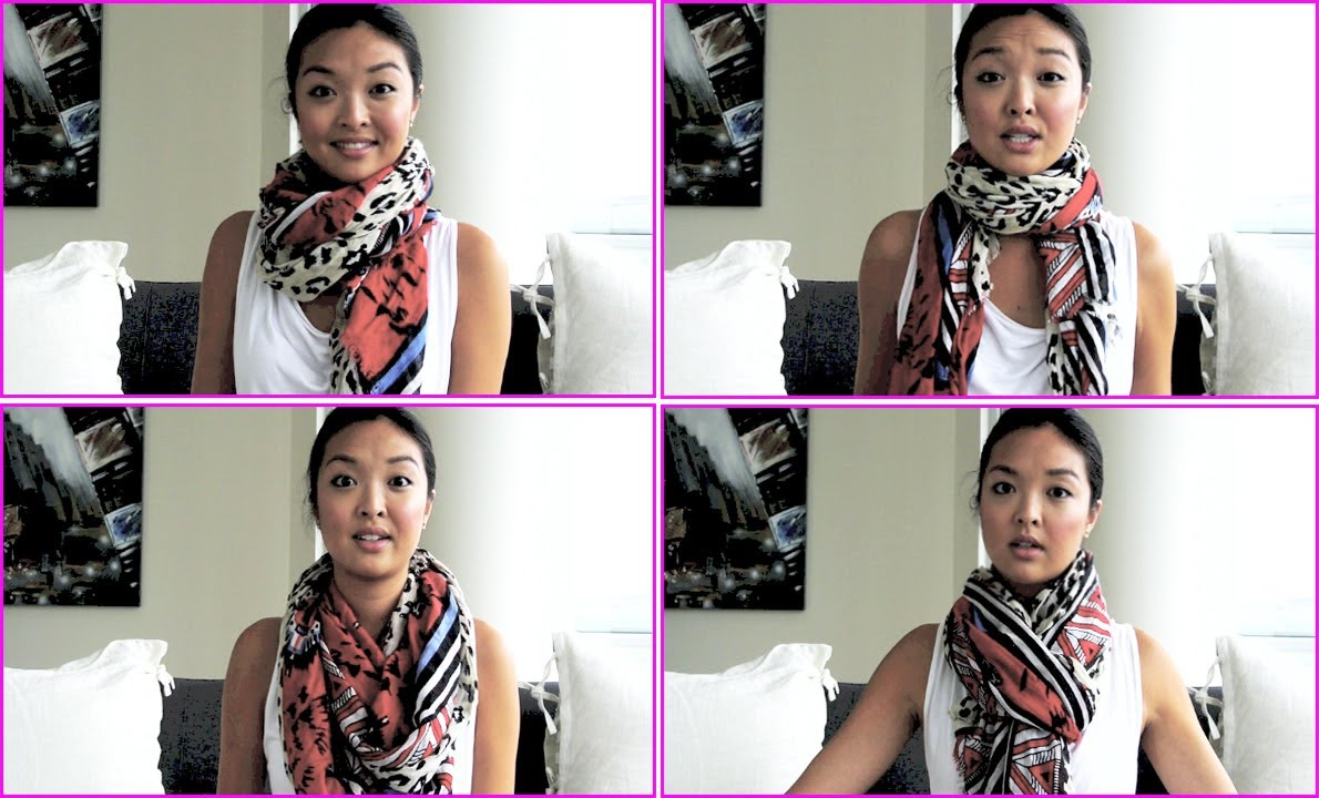 How To Tie A Scarf 5 Different Ways Youtube