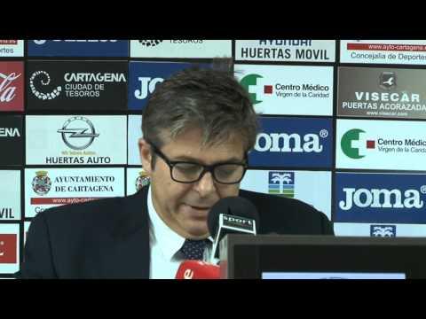 Javier Martínez anuncia entrada del Cartagena en Ley Concursal (31-10-14)