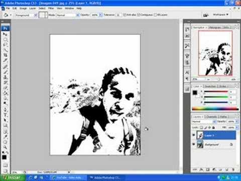 video aula photoshop, como fazer foto virar desenho colorido