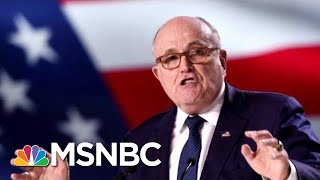Is Rudy Giuliani Really In Danger Of Losing His Job? | Velshi & Ruhle | MSNBC