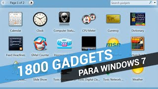 Pack de 1800 Gadgets Personalizados para Windows 7 - Como Instalar e Excluir Gadgets