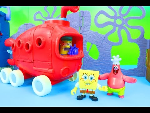 Imaginext Bikini Bottom Bus Spongebob Squarepants Patrick and Krabby Patties Just4fun290