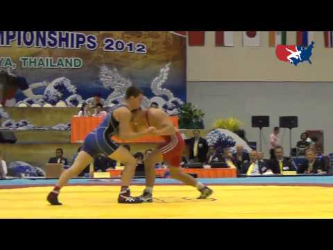 2012 Junior Worlds - GR 60kg Bronze Medal - Jesse Thielke (USA) vs. Ramunas Dagys (LTU)
