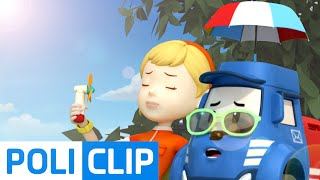The weather is so hot!! (Korean) | Robocar Poli Clips