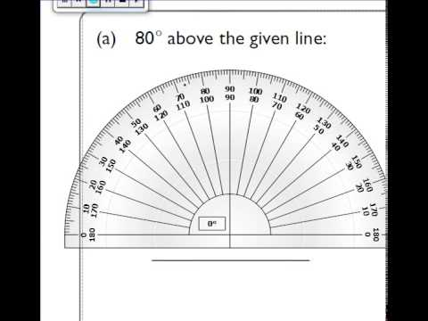 80 Degree Angle Above a Line at 80 Degrees