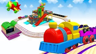 Chu Chu TRAIN CARTOON Video For KIDS - Toy Train Cartoon -SKY TOYS - Train Video