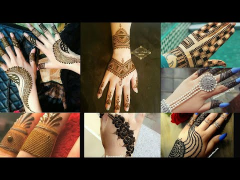 Most stylish, unique and simple  Mehendi design modern mehendi 2019 by super fashion_ Tv ka fashion