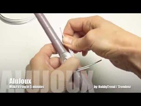 Bricoler une bague en fil aluminium en 5 minutes youtube - Comment faire une bague ...