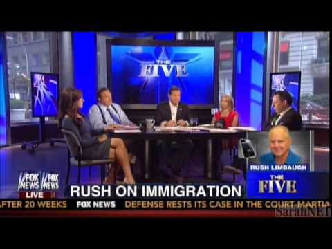 Rush Limbaugh joins 'The Five' 7-10-2013
