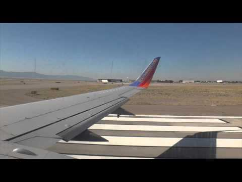 Southwest Airlines Boeing 737-300 Takeoff from Albuquerque to Dallas Love Field