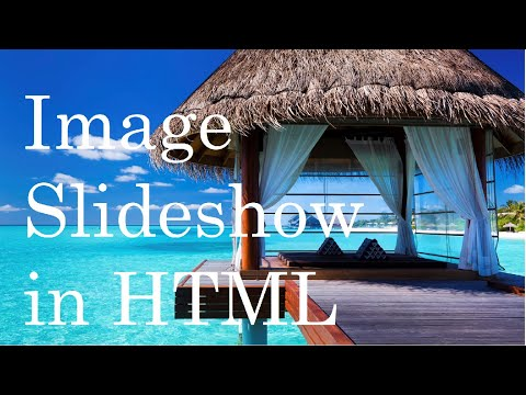How to make a image slideshow for your website (HTML and JavaScript) Full Tutorial