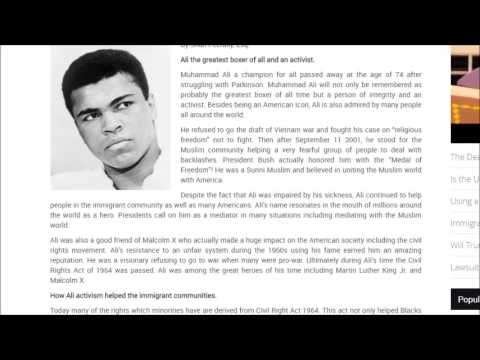 Muhammad Ali's Death a loss for the world especially the Immigrants!