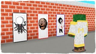 DO NOT CHOOSE THE WRONG DOOR! Slenderman, Granny and Jeff the Killer in Minecraft