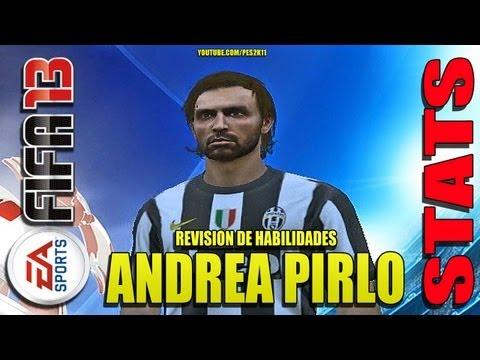 Stats Andrea Pirlo en Juventus + Moddingway Patch / Revisión habilidades FIFA 13