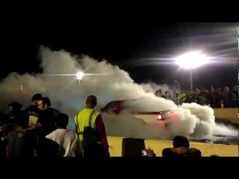 KRP - Burnout Contest S10 Pickup Blows Tire