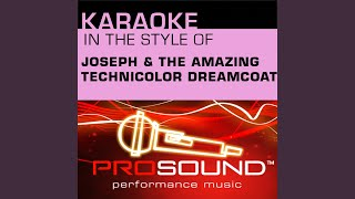 Any Dream Will Do Karaoke Instrumental Track In The Style Of Joseph And The Amazing