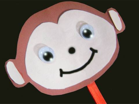 Easy Paper Kids Crafts: monkey