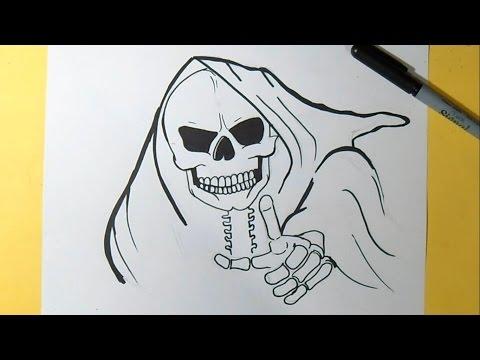 320Нарисованный череп по граффити