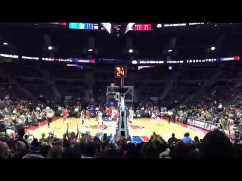 Chicago Bulls vs Detroit Pistons (preseason 2014) con la familia