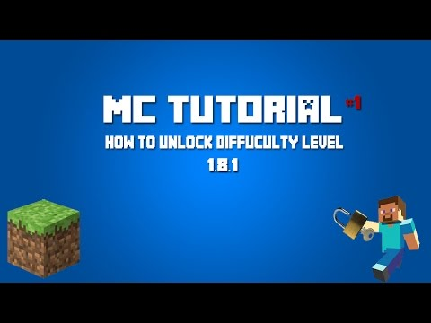 [TUT]How To Unlock Difficulty Level In Minecraft 1.8.1