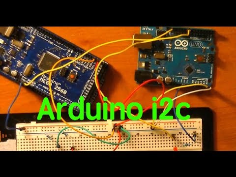 i2c communication between an Arduino Uno and an Arduino Mega 2560