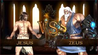 Fight of Gods Jesus vs Zeus