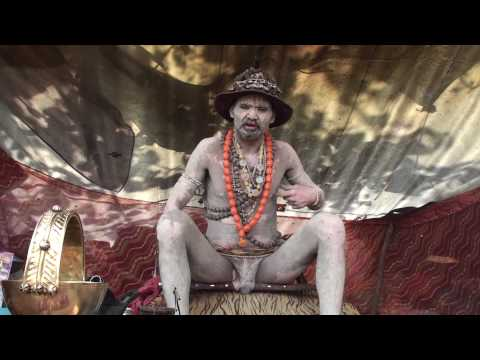 DHUNICAST Interview with Naga Baba Gajendra Giri Ji at 2010 Hardwar Maha Kumbh Mela Part 3