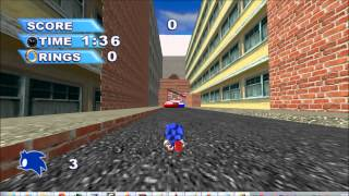 Classic sonic in City Escape