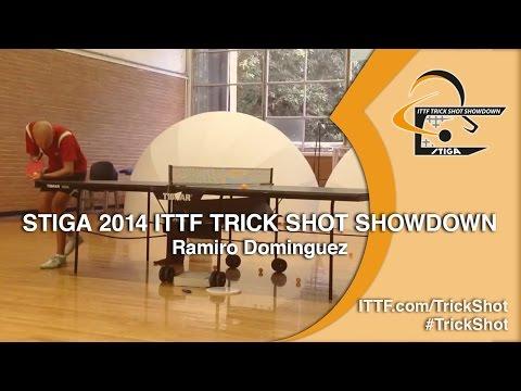 Ramiro Dominguez - STIGA 2014 ITTF TrickShot Showdown