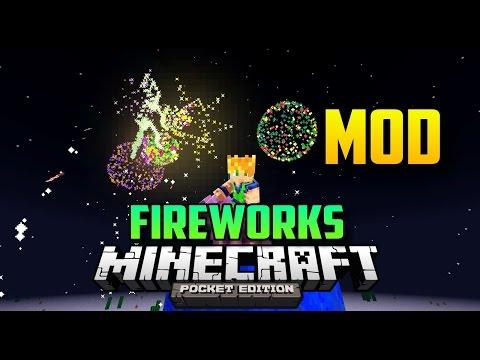 MINECRAFT PE FIREWORKS MOD