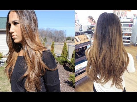 How To Balayage Ombre Highlights At Home Youtube