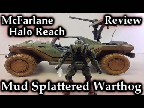 McFarlane Halo Reach   Mud Splattered Deluxe Warthog Vehicle Review   Toys R Us Exclusive