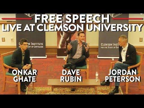 Jordan Peterson, Dave Rubin, Onkar Ghate on Free Speech: LIVE at Clemson