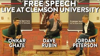 Jordan Peterson, Dave Rubin, Onkar Ghate on Free Speech: LIVE at Clemson