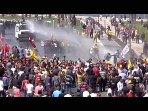Mounting anger: Turkey protesters hit the streets after mine tragedy