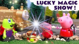 Peppa Pig Toys English Episode - Lucky Magic show with funny Funlings TT4U