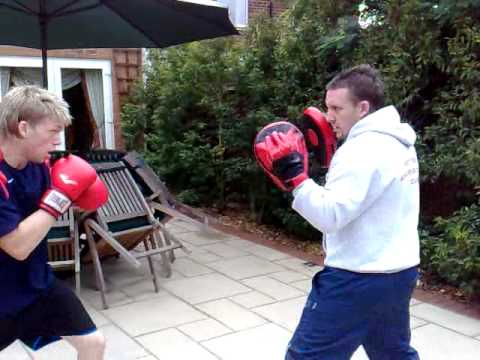 pad work mitts work boxing training coaching Image 1