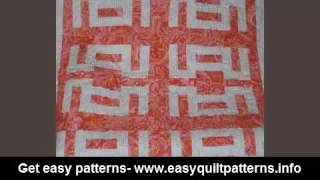 simple quilting for beginners easy split rail fence quilt pattern