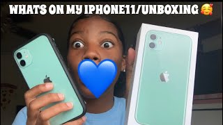 WHATS ON MY IPHONE11/UNBOXING 💙🥰
