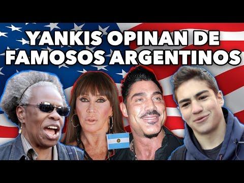 Los norteamericanos opinaron de los famosos argentinos