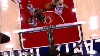 Cory Jefferson's 2-Handed Putback Slam vs Hawks