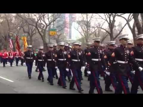 Marines at NYC St. Patrick's Day Parade 2012
