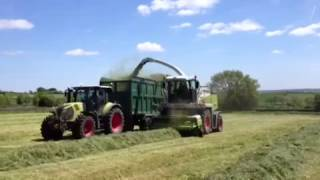New claas 870 speedstar chopping with claas arion