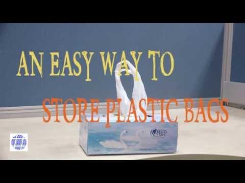 是非見習いたい買い物した後のビニール袋の整理方法。