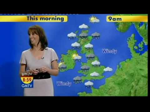 GMTV Andrea's in a really perky mood... (28.12.07)