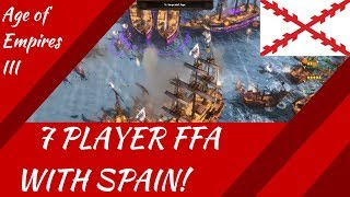 7 Player FFA with Spain! AoE III