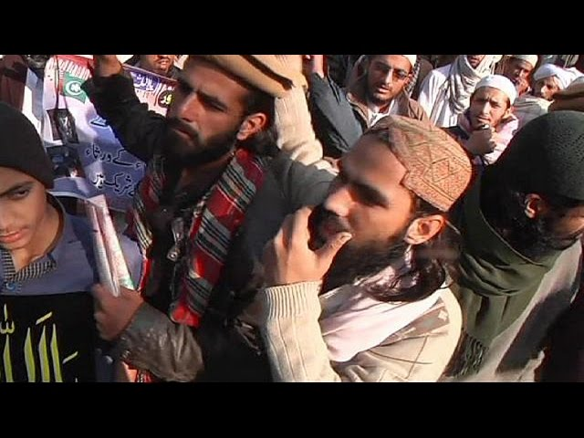 Pakistanis protest against Taliban as army intensifies offensive in north-west